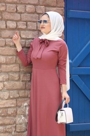 Fularlı Elbise MPR4465-4 - Thumbnail