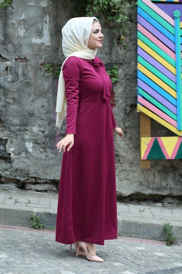 Fularlı Elbise MPR4465-9
