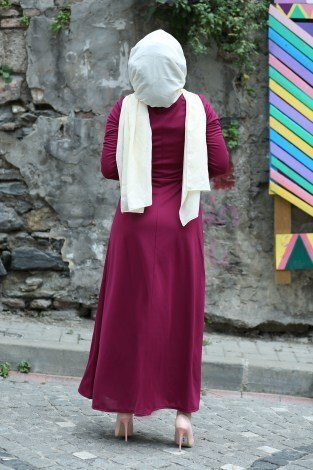 Fularlı Elbise MPR4465-9 - Thumbnail