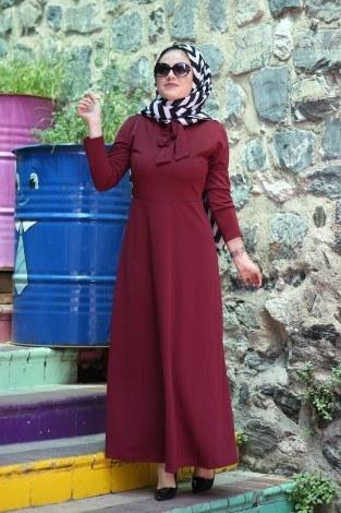 Fularlı Elbise MPR4465-3 - Thumbnail