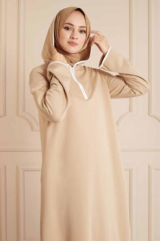- Garni Biyeli Spor Elbise 160SAG3006 Bej (1)