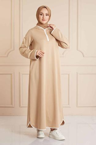 - Garni Biyeli Spor Elbise 160SAG3006 Bej