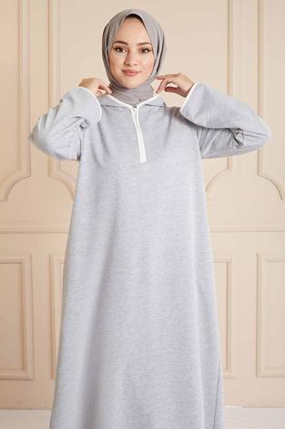 SAG - Garni Biyeli Spor Elbise 160SAG3006 Gri (1)