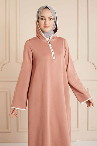 SAG - Garni Biyeli Spor Elbise 160SAG3006 Pudra (1)
