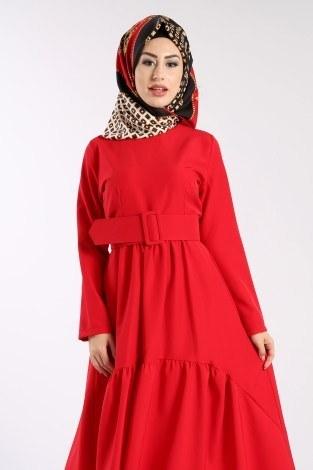 - Geniş Kemerli Elbise 3392-02 (1)