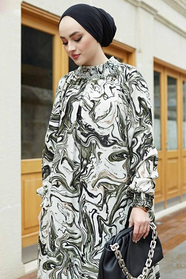 Gipeli Elbise 575M-2054 Haki