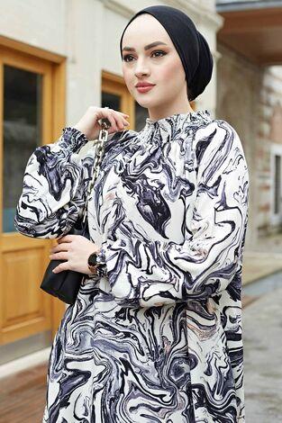 Gipeli Elbise 575M-2054 Siyah - Thumbnail