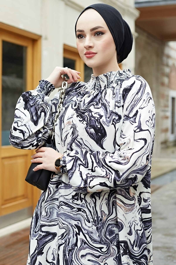 Gipeli Elbise 575M-2054 Siyah
