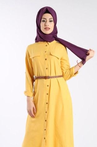 - Giy Çık Boydan Gömlek Elbise 1628-02 (1)