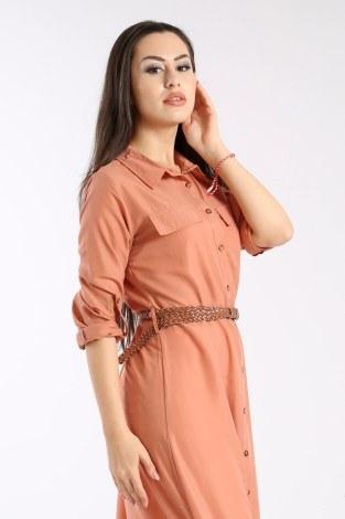 - Giy Çık Boydan Gömlek Elbise 1628-03 (1)