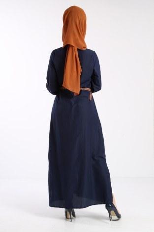 Giy Çık Boydan Gömlek Elbise 1628-04 - Thumbnail