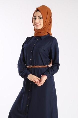 - Giy Çık Boydan Gömlek Elbise 1628-04 (1)