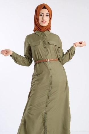 - Giy Çık Boydan Gömlek Elbise 1628-05 (1)