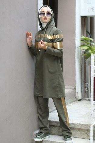 Gold Detaylı Eşofman Takım 2559-04 - Thumbnail