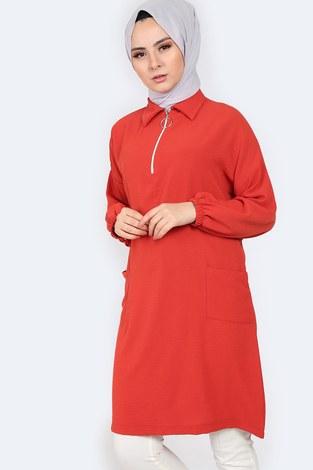 Gömlek Yaka Tunik 1616-4 - Thumbnail
