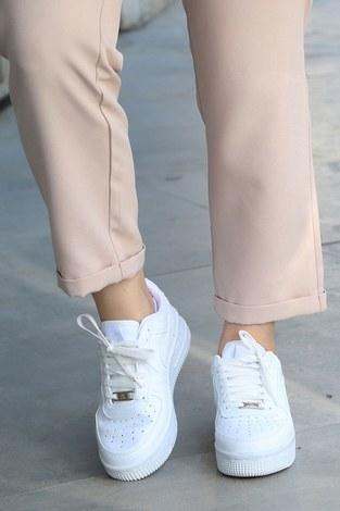 - Günlük Beyaz Spor Ayakkabı 6138-1