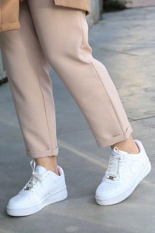 - Günlük Beyaz Spor Ayakkabı 6138-1 (1)