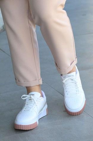 Günlük Beyaz Spor Ayakkabı 6149-3 - Thumbnail