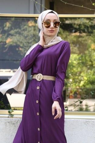 - Hasır Kemerli Elbise 5591-13 (1)