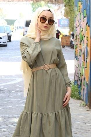 - Hasır Kemerli Elbise 2563-03 (1)