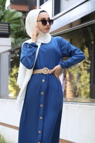 - Hasır Kemerli Elbise 5591-08 (1)