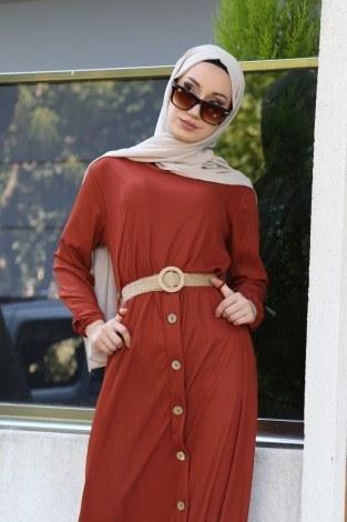 - Hasır Kemerli Elbise 5591-16 (1)