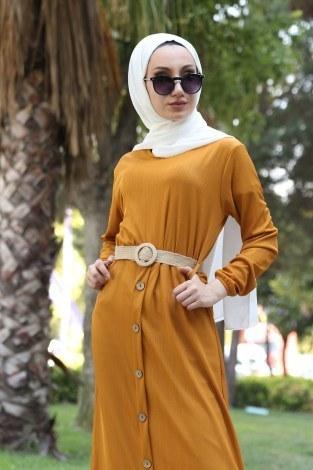 - Hasır Kemerli Elbise 5591-10 (1)