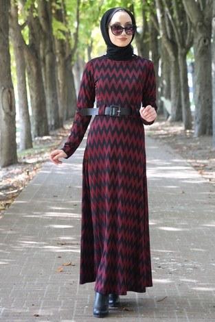 - Kemerli Elbise 2779-03