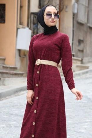 - Hasır Kemerli Triko Elbise 1560-03 (1)