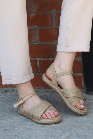 - Hasır Sandalet 6153-1 Ten (1)