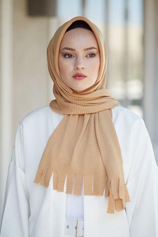 Hijap Piliseli Pratik Şal 2147-1 Hardal - Thumbnail