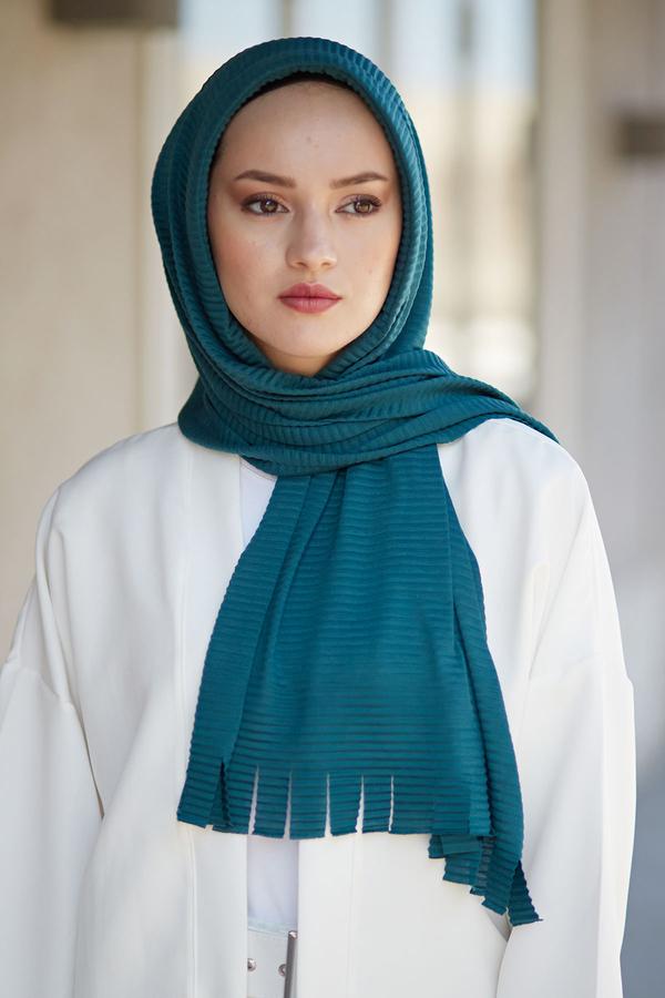 Hijap Piliseli Pratik Şal 2147-5 Zümrüt