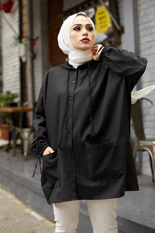 - Hood Spor Gömlek 8944-1 Siyah