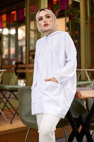 - Hood Spor Gömlek 8944-2 Beyaz