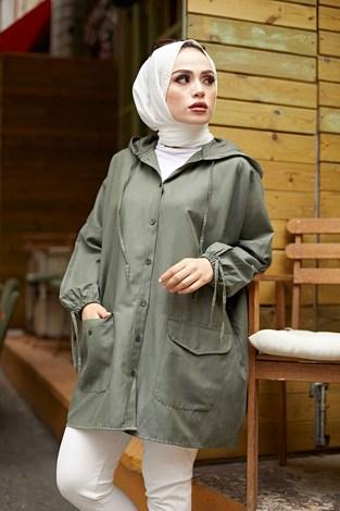 - Hood Spor Gömlek 8944-5 Haki