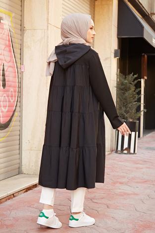 HOT Salaş Tunik 22101-1 Siyah - Thumbnail