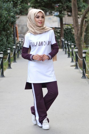 - Hümanur Çift Renkli Tarz Eşofman Takımı 99198-5
