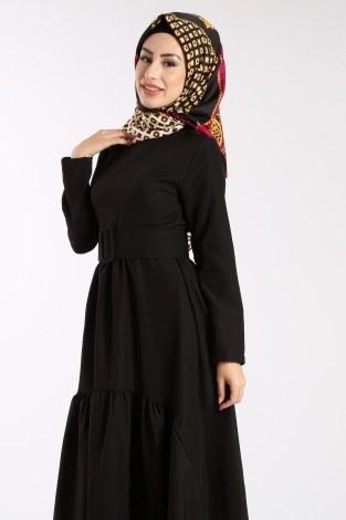 - Geniş Kemerli Elbise 3392-01 (1)