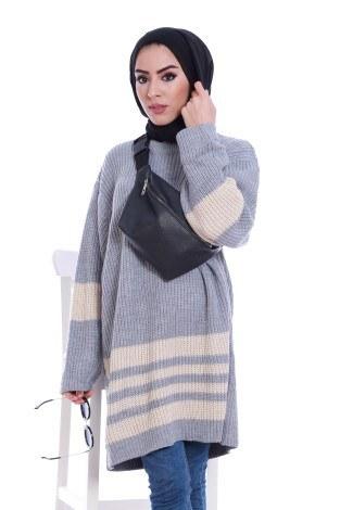 - İki Renk Oversize Kazak 9370-24 (1)