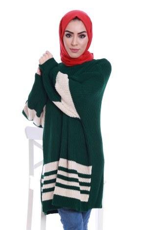 - İki Renk Oversize Kazak 9370-25 (1)