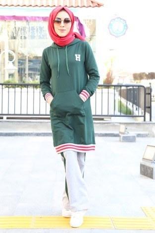 - İkili Eşofman Takımı 2336-1 Yeşil-Gri