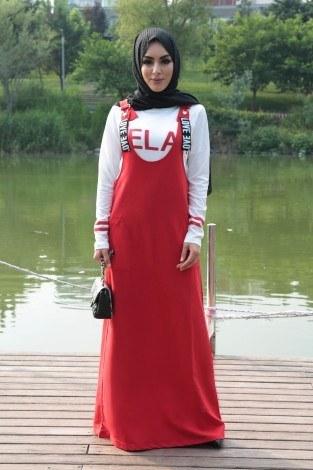 - İkili Salopet Elbise 2640-3