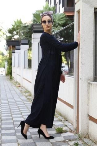 - İnci Ve Papatya Detaylı Elbise 0179-06