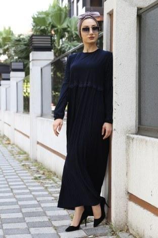 - İnci Ve Papatya Detaylı Elbise 0179-06 (1)