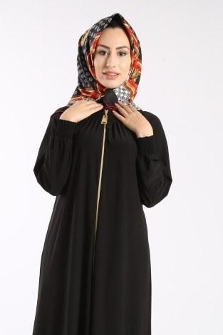 - Fermuarlı Ferace Elbise 1138-01 (1)