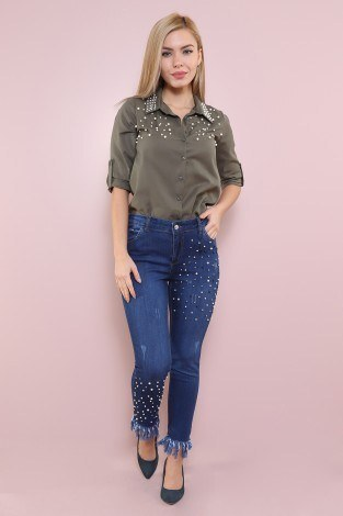 - İncili Kot Denim 6380-1