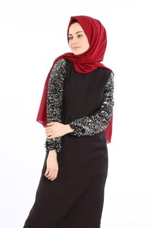 - Pul Payet Detaylı Elbise 5560-01 (1)