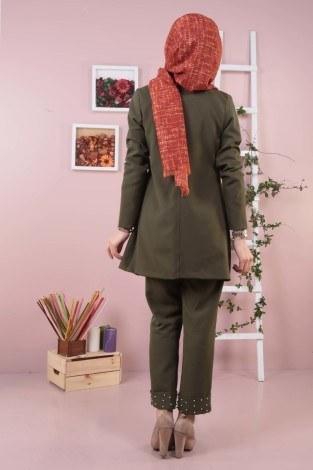 İncili Ceket Pantolon İkili Takım 987650-07 - Thumbnail