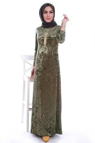 - Kadife Elbise 2159-2
