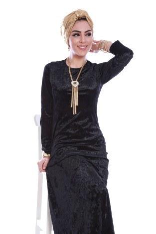 - Kadife Elbise 2159-4 (1)